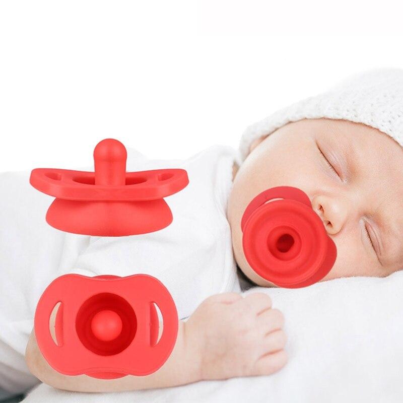 Silicone de qualité alimentaire nouveau-né bébé sucette factice infantile rond mamelon sucette sucette pince rétractable pour les enfants
