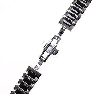 Image 5 - ステンレス鋼シルバーセラミック腕時計ブレスレットサムスンギアスポーツ腕時計ストラップギアs3 s2バンド銀河時計バンド20ミリメートル22ミリメートル