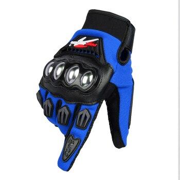 Guantes de Moto de dedo completo protección de acero inoxidable antideslizante para ciclismo deportivo al aire libre Cross Dirt Racing Guantes de Moto