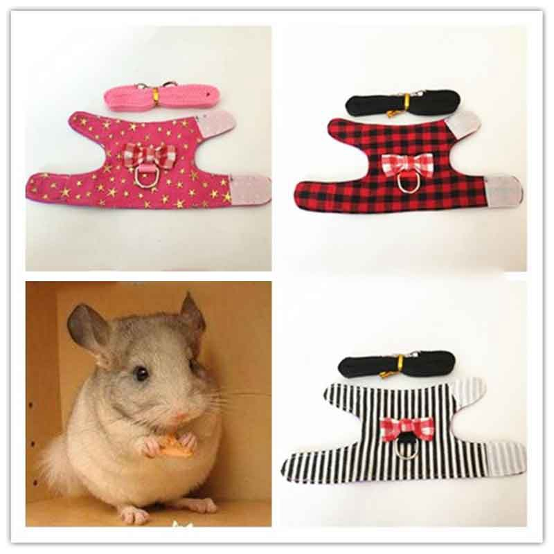 AHUAPET Clothes For Guinea Pig Hamster Clothes Laisse Hamster Riem Rabbit Harness Rat Riem Ferret Guinea Pig Bunny Pet Supplies