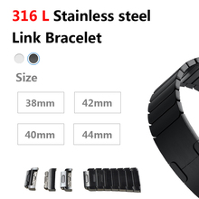 цена на Link Bracelet Strap For Apple watch band 4 3 44mm 40mm 42mm 38mm iwatch Stainless Steel watchband for apple watch Accessories