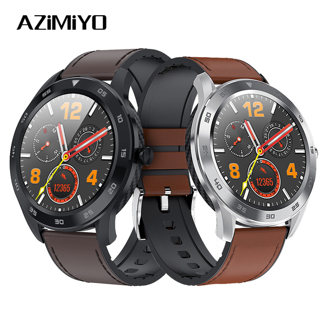 AZiMiYO DT ساعة ذكية مقاوم للماء IP68 معدل ضربات القلب دعم جهاز التتبع لتحديد المواقع رجل الرياضة المقتفي SmartWatch ل أندرويد IOS