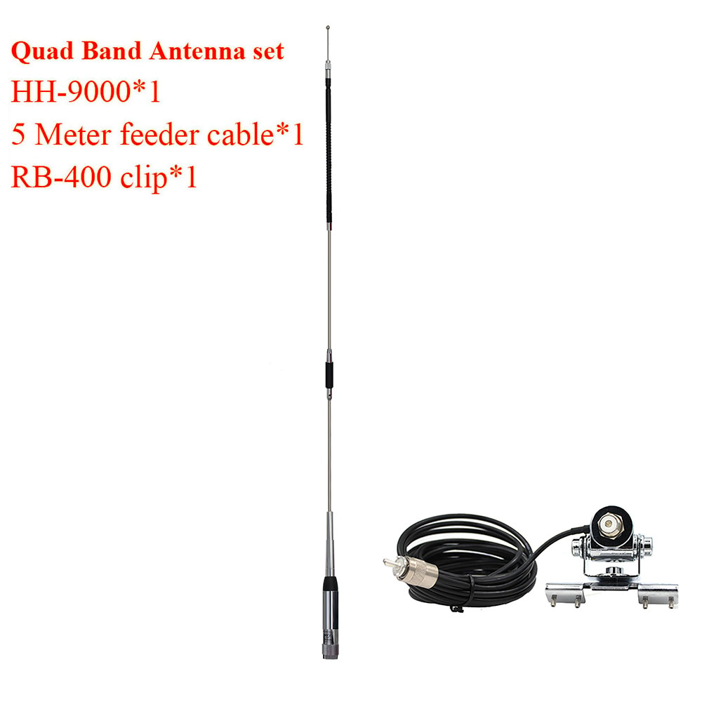 Mobile Car Radio TYT TH-9800 TH9800 QYT KT-7900D KT7900D KT-8900D KT8900D FT-8900R HH9000 Quad Band Antenna HH-9000