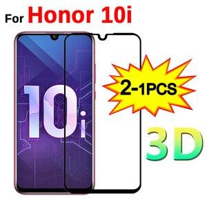 "Image 1 - 1 2pcs 3D מזג זכוכית על 10i כבוד 10i מסך מגן מלא כיסוי מגן זכוכית עבור Huawei Honor honer 10i 6.2 ""HRY LX1T"
