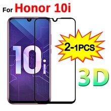 Protector de pantalla de vidrio templado 3D para Huawei, Protector de pantalla de vidrio templado 3D para Honor 10i, HRY LX1T de 6,2 pulgadas, 1 2 Uds.