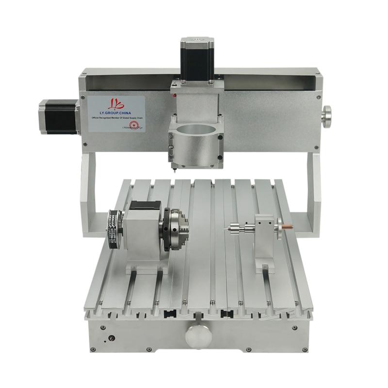 Image 2 - CNC 3040 Rack Engraving Machine Frame 4Axis Kit With Nema23 Stepper Motors CNC Lathe 300x400mm DIY PartsWood Routers   -