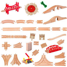 All Kinds Wooden Railway Train Track Accessories Beech Wooden Track Set Bridge Parts Fit Biro Brand Train Toys
