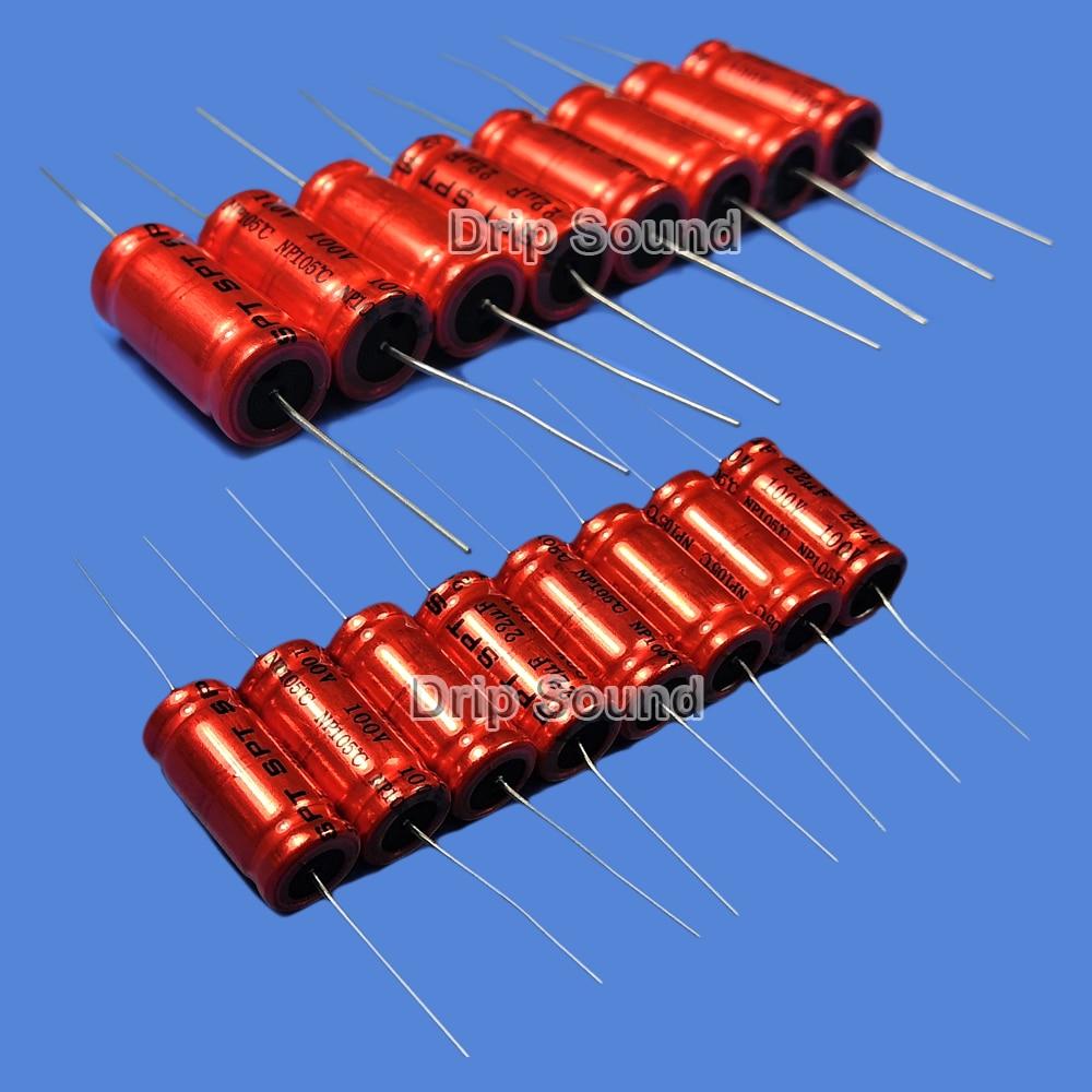 2pcs New 100V 2.2uF Audio Speaker Divider Non-Polarized Electrolytic Capacitor