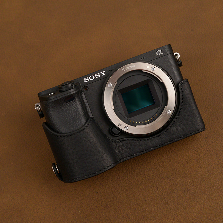 Sony A6600 A6100 A6300 A6400 Leather Case Camera Case Protective Case Half Case Camera Case