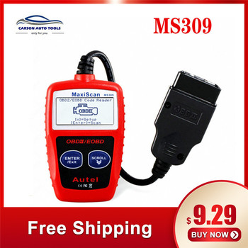 Autel MaxiScan MS309 OBDII Code Reader Scanner obd2 Car Diagnostic Tool Original and Professional MaxiScan MS309 Scanner autel maxisys elite obd2 diagnostic code reader scanners j2534 ecu programming