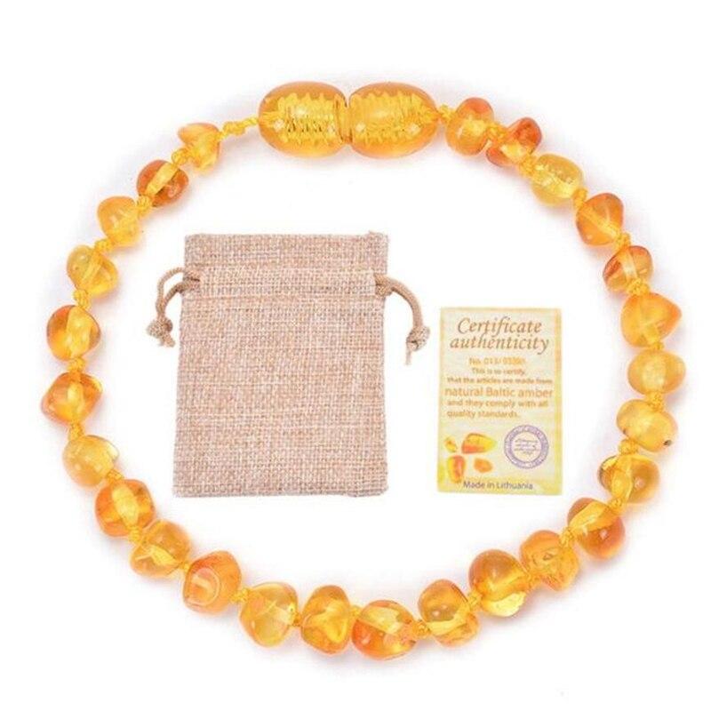 Браслеты-прорезыватели из натуральных камней для детей, браслеты из Балтийского браслета, Оригинальные круглые браслеты из бисера для здор...