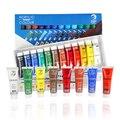 Водостойкие 24 цвета 15 мл тюбик акриловой краски набор цветной лак для ногтей художественная краска для ткани инструменты для рисования для ...
