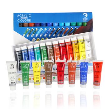 Wodoodporny 24 kolory 15ML Tube zestaw farb akrylowych kolor paznokci szkło artystyczny obraz farby do tkanin narzędzia do rysowania dla dzieci DIY tanie i dobre opinie Acrylic paint Farby akrylowe Płótno Papier