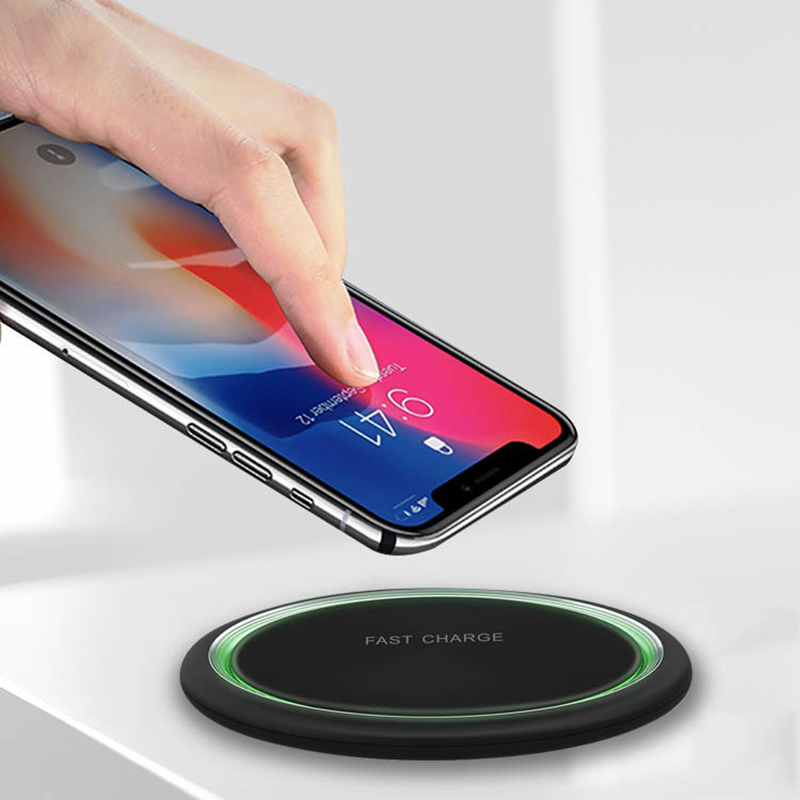 qi wireless charger for iPhone Samsung Huawei Xiaomi 15W fast charging ultra-thin usb charger baseus magnetic charge anchor