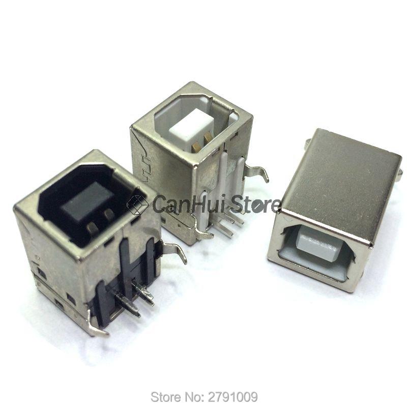 10 шт. USB 2,0 разъем гнездо типа B 90/180 градусов разъем для пайки PCB разъем D интерфейс принтера белый/черный