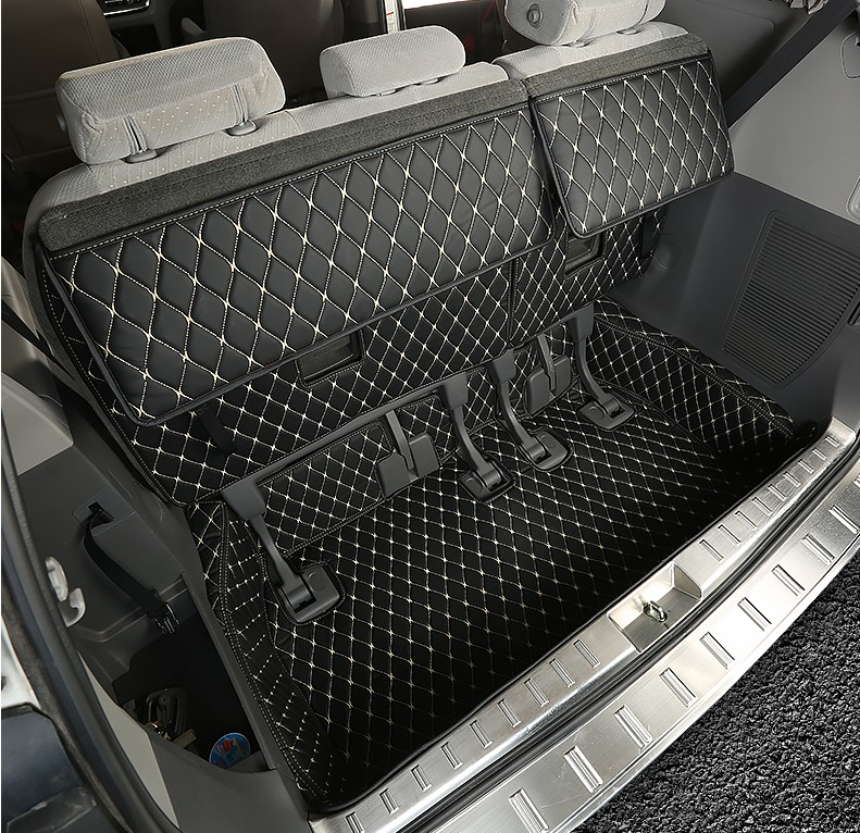 Leather Car Trunk Mat Cargo Liner Backrest Mat Interior Modification For Toyota Sienna 2011-2019 Xl30 Car Styling Accessories