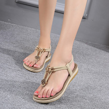 Bohemian Sandals Women Thick-soled Large Size Shoes Roman Toe Corrector Orthopedic Summer Open Comfy