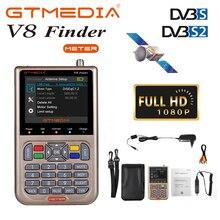 "GTmedia V8 مكتشف إشارة الأقمار الصناعية الرقمية مكتشف 3.5 ""شاشة LCD عرض DVB S2/S2X الأقمار الصناعية مكتشف متر أداة البحث إشارة التلفزيون"