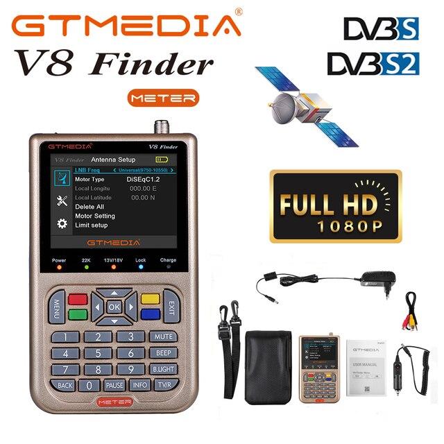 """GTmedia V8 Finder Digital Satellite Signal Finder 3.5 """"Display LCD DVB S2/S2X Satellite Finder Meter TV strumento di ricerca del segnale"""