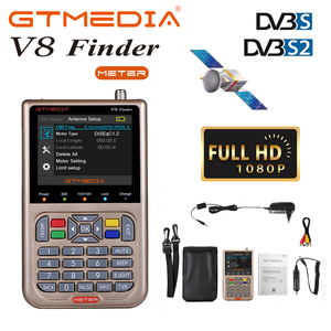"GTmedia V8 Finder Digital Satellite Signal Finder 3.5""LCD Screen Display DVB-S2/S2X Satellite Finder Meter TV Signal Search Tool(China)"