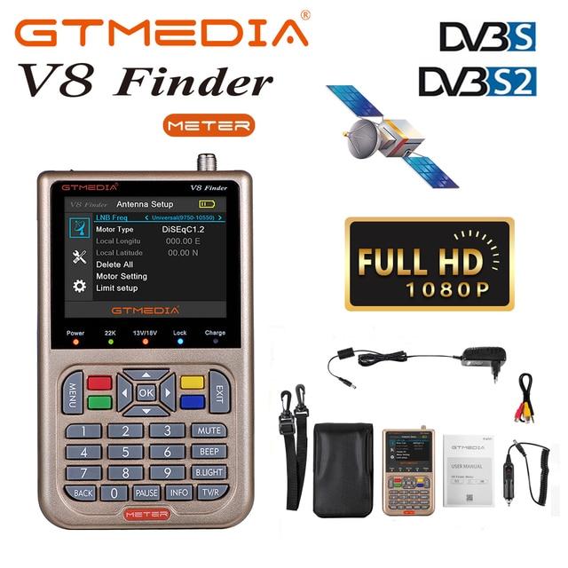 "GTmedia V8 Finder Digital Satellite Signal Finder 3.5""LCD Screen Display DVB S2/S2X Satellite Finder Meter TV Signal Search Tool"
