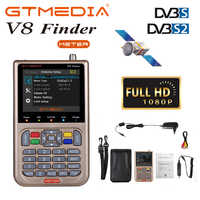 GTmedia V8 Finder Digital Satellite Signal Finder 3.5LCD Screen Display DVB-S2/S2X Satellite Finder Meter TV Signal Search Tool