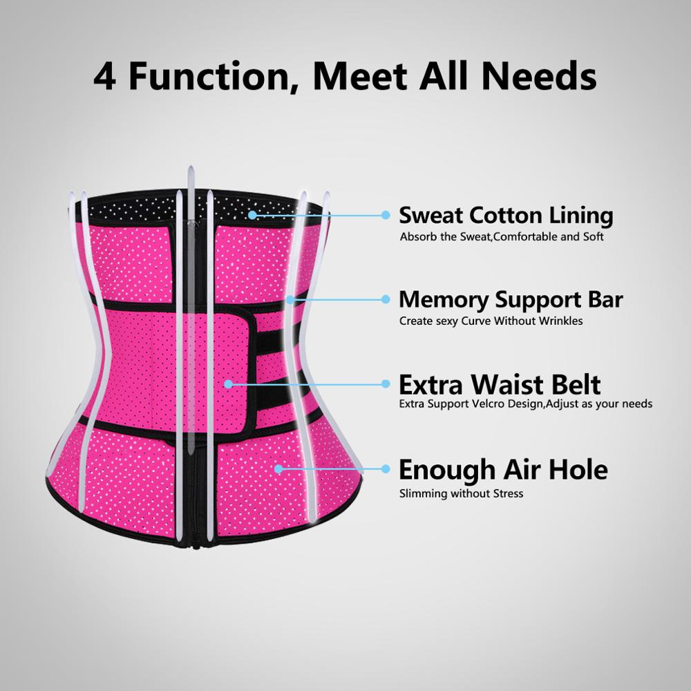 Image 5 - ROEGADYN Loss Sweat Band Wrap Fat Sports Waist Trimmer Belt For Women Waist Trimmer Breathable Fitness CrossFit Waist SupportWaist Support   -