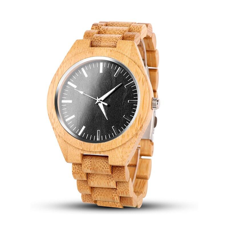 Montres en bois Unique montre en bois hommes montre populaire de luxe plein bois montre pour hommes horloge saat relogio masculino 2019 haut à la mode