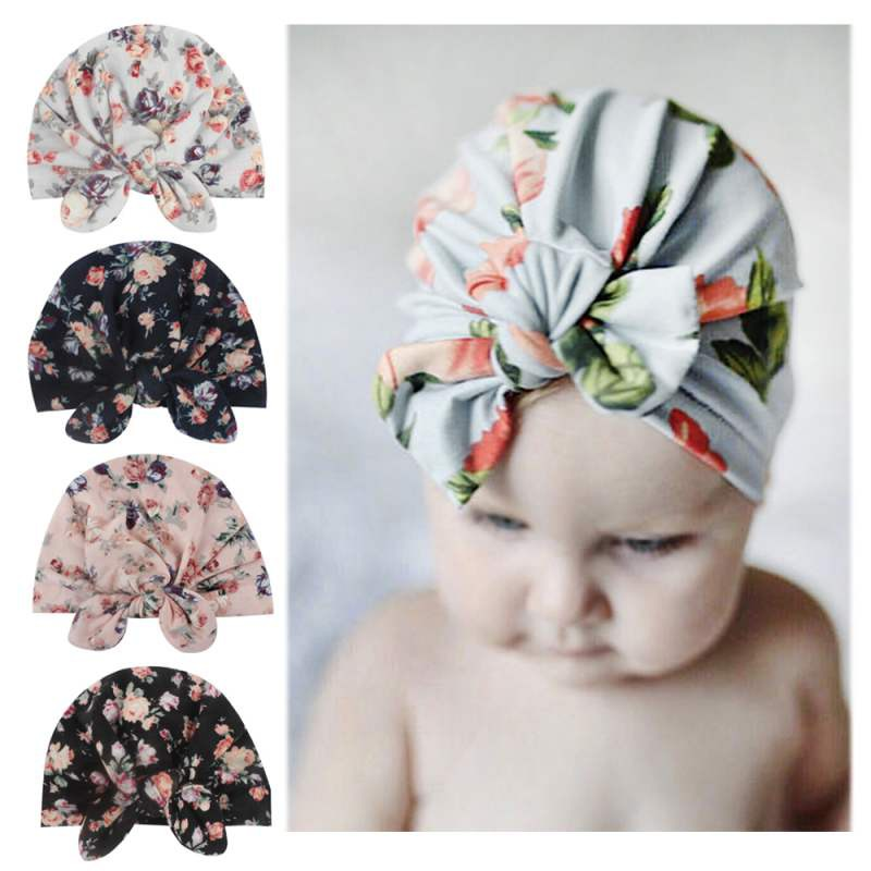 Newborn Baby Boy Girl Knot Beanie Hat Infant Toddler Soft Cotton Cap Headwrap