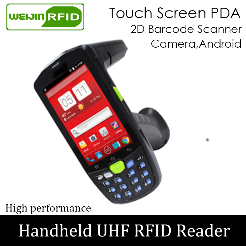 Handheld Reader UHF RFID 4G PDA Portable Encoder EPC C1G2 ISO18000 6c Mobile Phone Chip Tag 2D Image Scanner Writer Copier