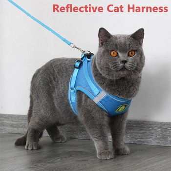 Reflective Pet Cat Harness Leash