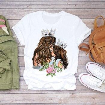 Women Cartoon Super Mom Life Momlife Summer Print Lady T-shirts Top T Shirt Ladies Womens Graphic Female Tee T-Shirt 29