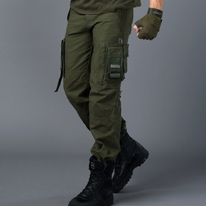 Image 4 - CARGO PANTS Overalls Male Mens Army Clothing TACTICAL PANTS MILITARY Work Many Pocket Combat Army Style Men Straight Trousers