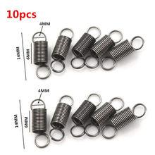 10 unids/lote 10mm dibujar a 30mm resorte de tensión pequeño de acero inoxidable con gancho para Juguetes DIY extensibles