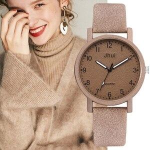 Image 1 - למעלה מותג נשים שעונים אופנה עור שעון יד נשים שעונים גבירותיי שעון שעון מתנה zegarek damski Relojes Mujer 2019