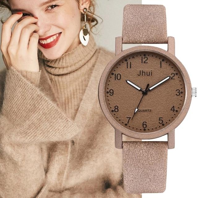 למעלה מותג נשים שעונים אופנה עור שעון יד נשים שעונים גבירותיי שעון שעון מתנה zegarek damski Relojes Mujer 2019