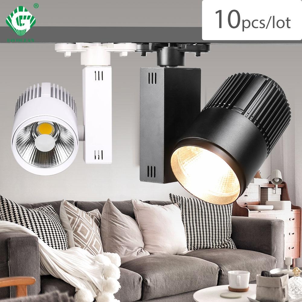 Track Light LED 40W COB Rail Spot Lamp Shoe Clothes Store Shop Lighting Rails Aluminum Showroom