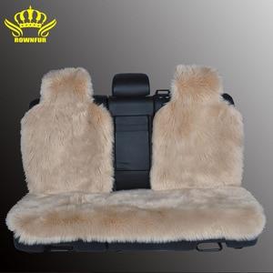 Image 4 - Housse de siège arrière, fausse fourrure, 4 couleurs, universelle pour tous les types de sièges, pour voiture lada priora, pour peugeot 406, lada, 3 pièces