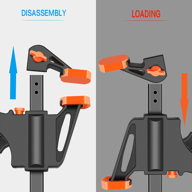 DTBD 4 Inch 2/3/4/5/10Pcs Woodworking Work Bar F Clamp Clip Set Hard Quick Ratchet Release DIY Carpentry Hand Tool Gadget 3
