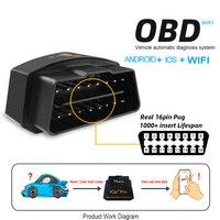 1Pcs Mini Elm327 WIFI OBD2 Car Diagnostic Tool Scanner scan obd odb2 WIFI OBD Automotive Scanning Tool For IOS/Android