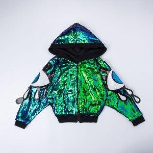 Image 5 - เด็กเลื่อม Hip Hop Hoodies เสื้อแจ็คเก็ตเสื้อผ้าสำหรับสาว Crop Tank Top เสื้อกางเกงขาสั้น JAZZ Dance Ballroom เต้นรำเสื้อผ้าสวมใส่