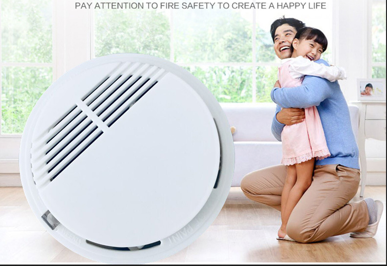 360 Degree Wired Smoke Alarm Networking Smoke Detector 12V Smoke Detector Linkage Alarm Host