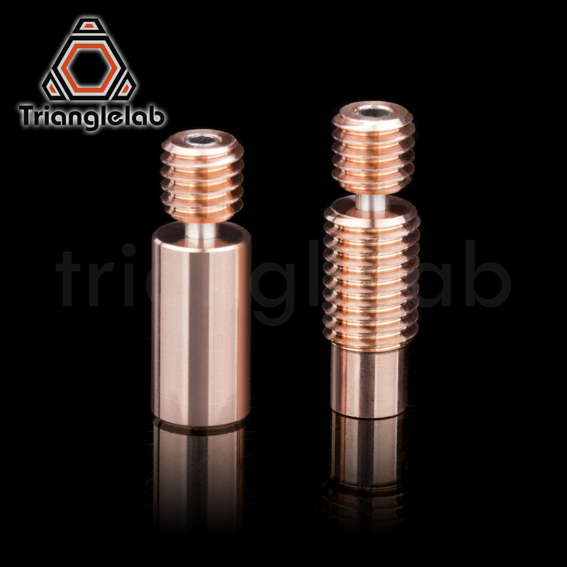 Trianglelab bi-metal Heatbreak Bimetal isı break için E3D V6 HOTEND isıtıcı blok Prusa i3 MK3 mola 1.75MM Filament pürüzsüz