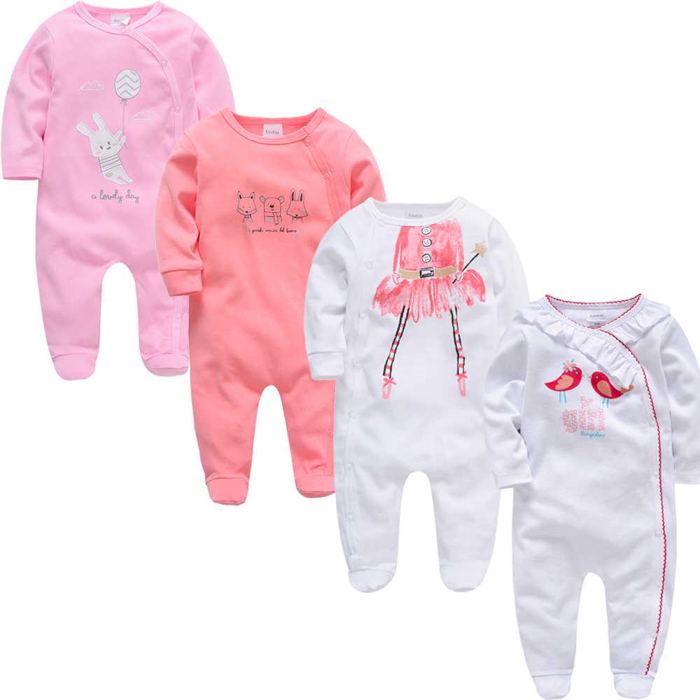 Honeyzone 3 4 pçs/lote Bebê Menina Macacão roupa de bebes Meninos Roupas de Manga Longa de Algodão Macio Verão Novo Corpo Nascido Roupas Bebes