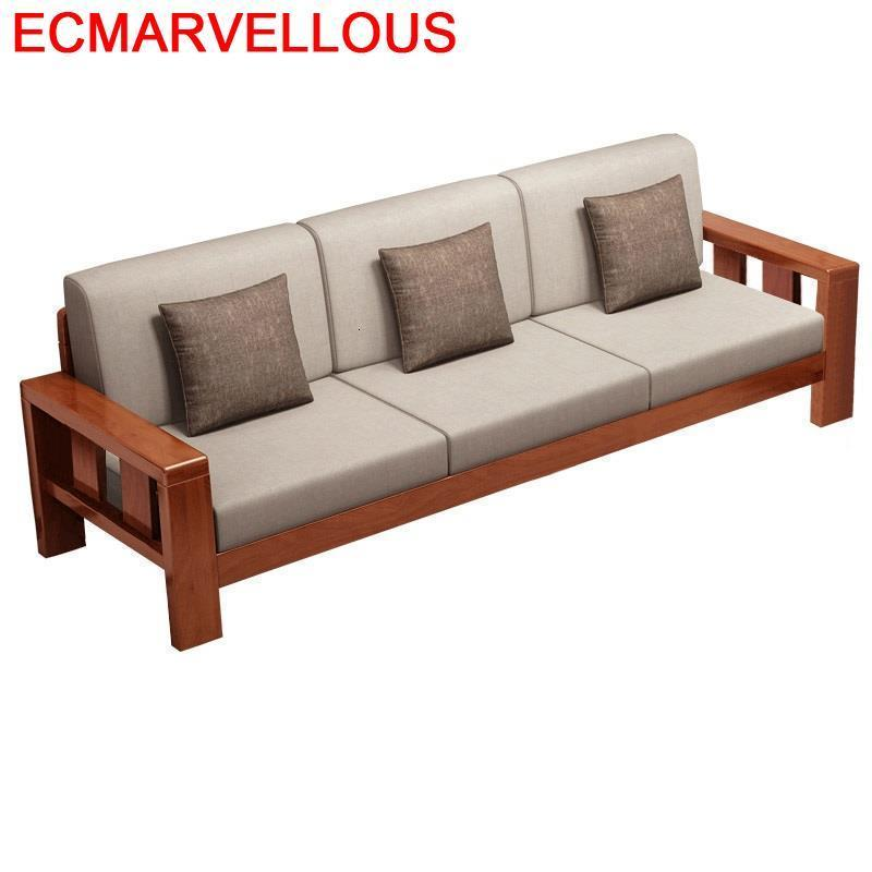 Couch Moderno Takimi Para Copridivano Armut Koltuk Puff Asiento Wood Retro De Sala Mobilya Mueble Set Living Room Furniture Sofa