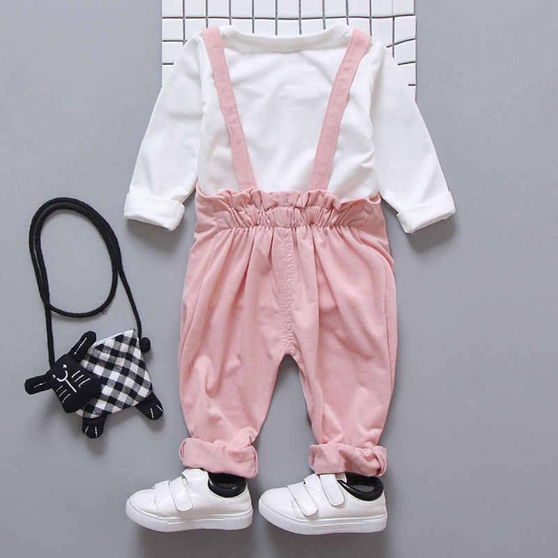 Lucu Bayi Perempuan Pakaian Set Musim Gugur Musim Semi Baru Lahir Fashion T-shirt Celana Bayi Perempuan Wear Wear Olahraga Bermain Pakaian Set