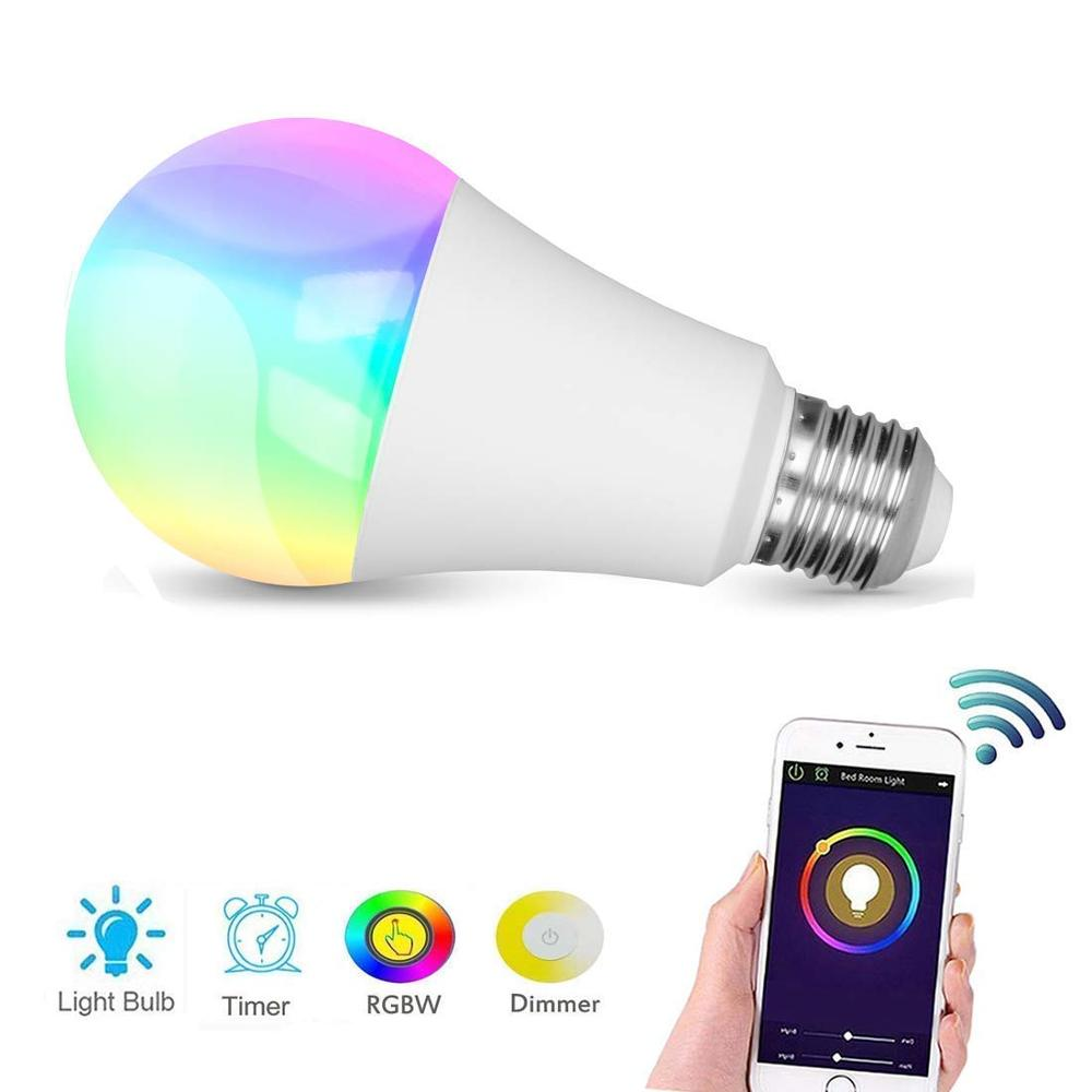 Smart Lamp Seven Color RGB Bulb Lamp RGB  Bulb Full Color Bulb Lamp Alexa VOICE Remote Control WIFI Control Lamp E27 Bluetooth