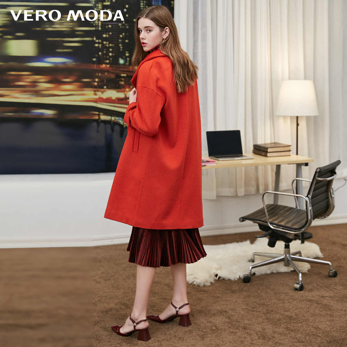 Vero Moda Winter Vrouwen Loose Fit Single-breasted Wollen Jas Overjas Jas | 318327529