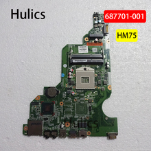 Hulics 001 Originais 687701-501 687701-687701-601 Para HP 650 CQ58 CQ58-2000 Series Laptop Motherboard HM75 DDR3