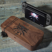 Storage-Box Case Console Walnut Nintendos-Switch Theme-Game Witcher for III Wooden